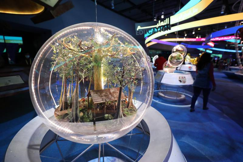 Dubai, United Arab Emirates - Reporter: Ramola Talwar. News. Visitors at the Land of future values. ExpoÕs Sustainability Pavilion opens to the public. Dubai. Thursday, January 21st, 2021. Chris Whiteoak / The National