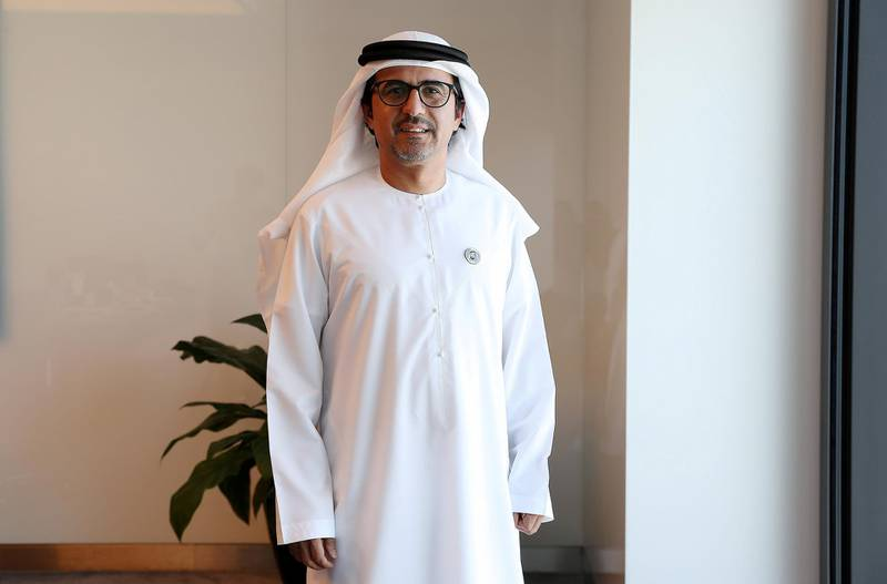 ABU DHABI , UNITED ARAB EMIRATES , MARCH 27  – 2018 :- Musabbeh  Al Kaabi , CEO, Mubadala Petroleum and Petrochemicals at IPIC square in Abu Dhabi. ( Pawan Singh / The National ) For Business. Story by Jennifer