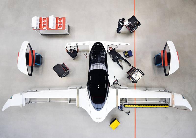 Engineer working on Lilium jet. Courtesy Lilium GmbH