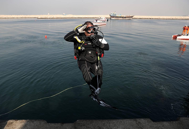 Dubai, United Arab Emirates - October 11th, 2017: Dubai Police will deploy divers to clean Al Hamriya port. Wednesday, October 11th, 2017 at Al Hamriya port, Dubai. Chris Whiteoak / The National