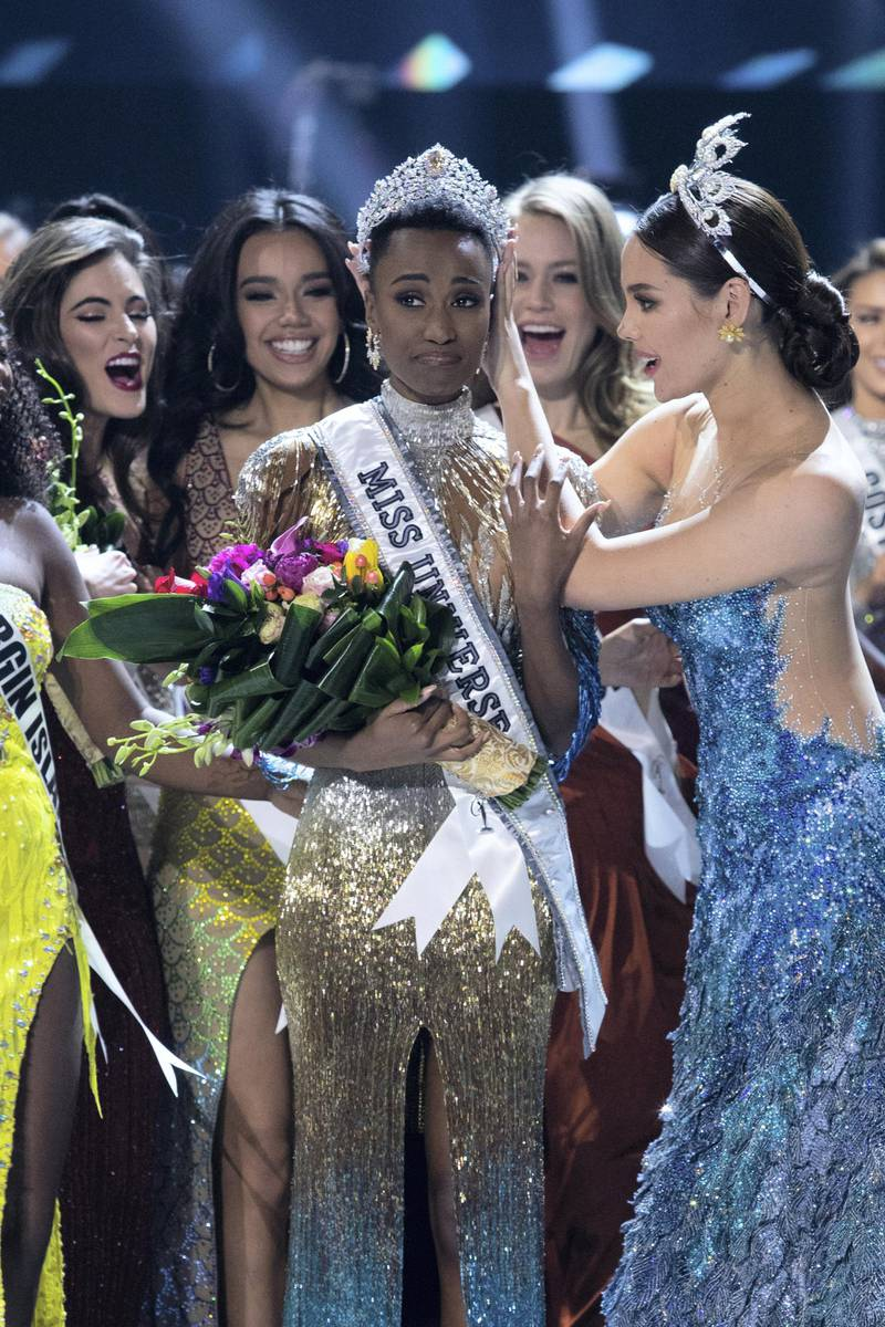 Zozibini Tunzi, Miss South Africa 2019 is crowned Miss Universe by Miss Universe 2018, Catriona Gray at the conclusion of The MISS UNIVERSE® Competition on FOX at 7:00 PM ET on Sunday, December 8, 2019 live from Tyler Perry Studios in Atlanta. The new winner will move to New York City where she will live during her reign and become a spokesperson for various causes alongside The Miss Universe Organization. HO/The Miss Universe Organization
