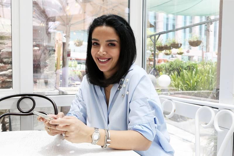 DUBAI , UNITED ARAB EMIRATES - JULY 4 : Zahra Khalil , fashion blogger at the Roseleaf Cafe in Dubai Garden Centre on Sheikh Zayed Road in Dubai.  ( Pawan Singh / The National ) Story by Hafsa Lodi