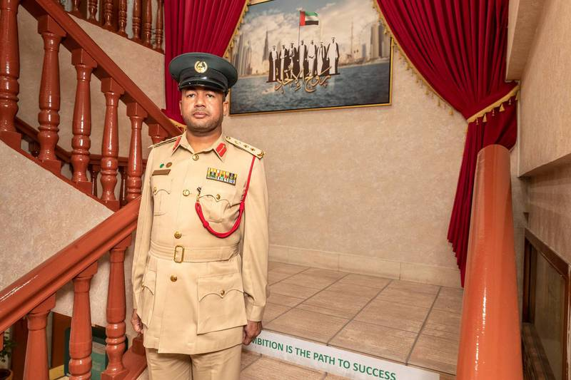 Col Omar Moosa Ashoor, the Deputy Head of Naif Police station, Dubai Police on June 3rd, 2021. Antonie Robertson / The National.Reporter: Salam Al Amir for National