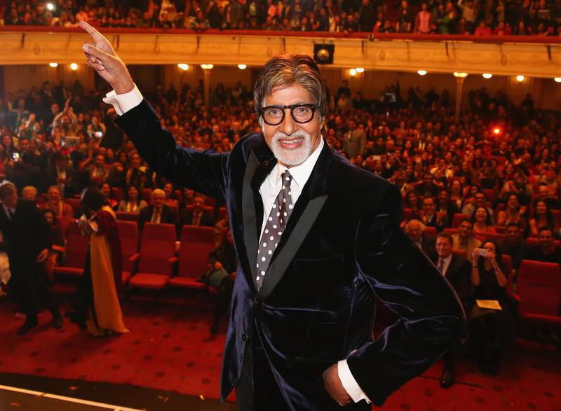 MELBOURNE, AUSTRALIA - MAY 02:  Indian film actor, Amitabh Bachchan poses on stage during the Indian Film Festival of Melbourne Awards at Princess Theatre on May 2, 2014 in Melbourne, Australia.  (Photo by Scott Barbour/Getty Images for IFFM)