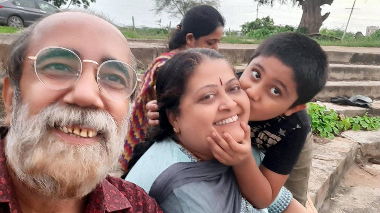 Paresh Kapta with his family. Courtesy Paresh Kapta