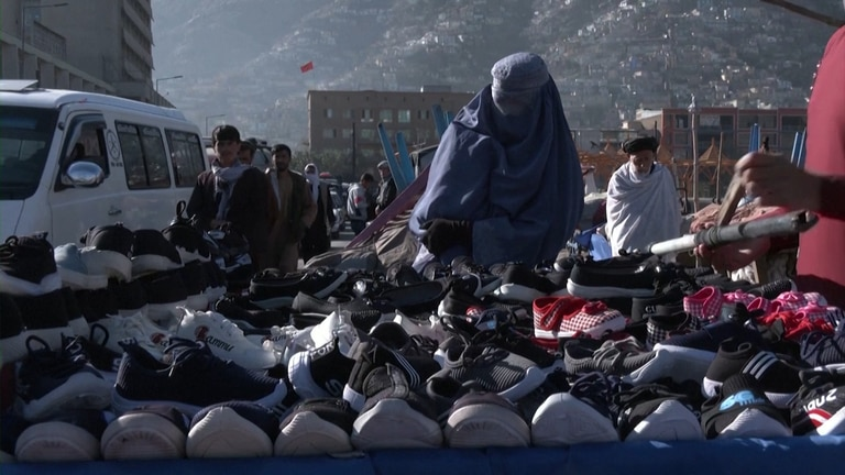An image that illustrates this article Second-hand clothes markets booming in Kabul
