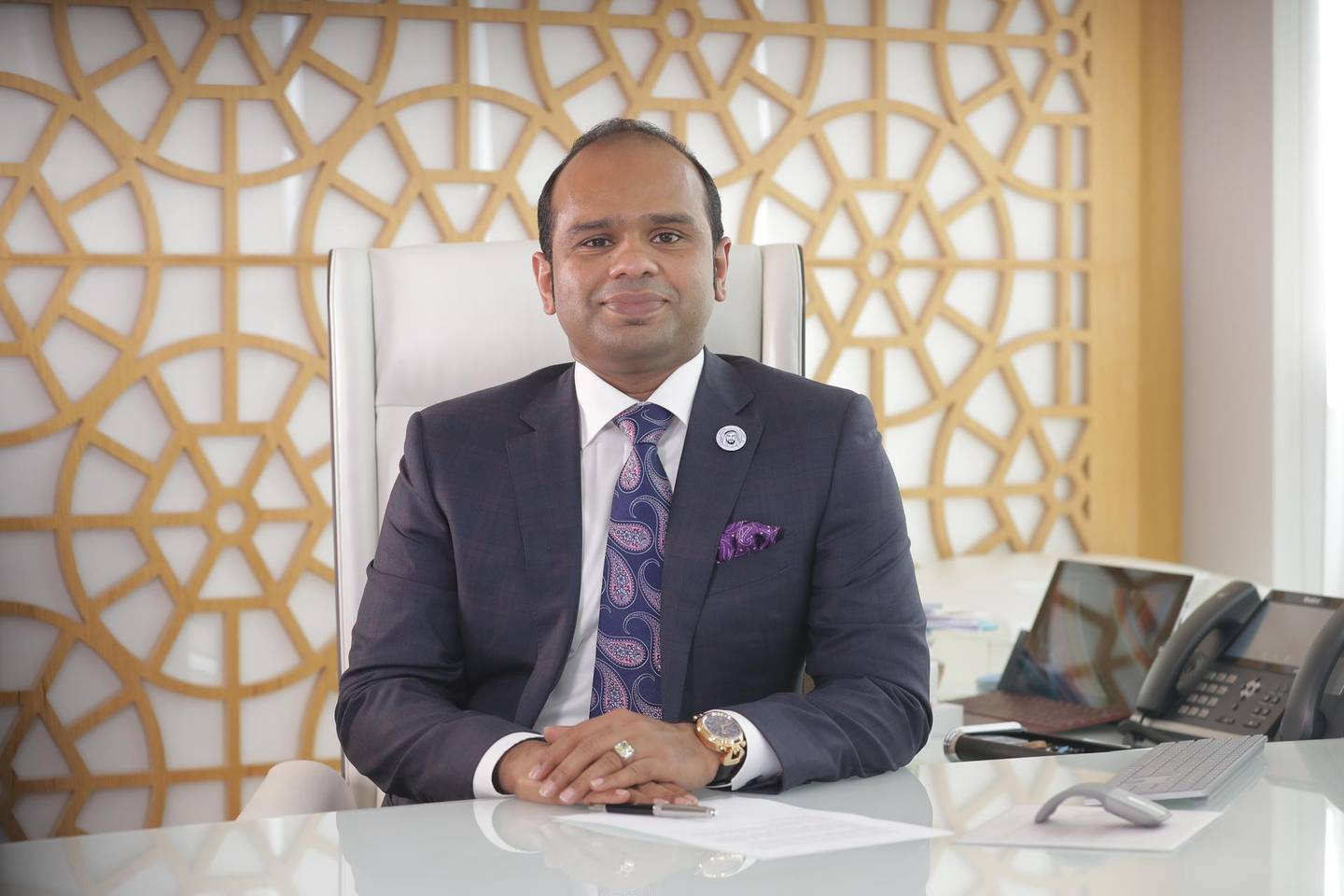 Adeeb Ahamed, managing director of LuLu Financial Group and Lulu Exchange, says normally there is a trend, especially among high-net-worth UAE customers, to wait for better rates to transfer funds in bulk to Britain. Courtesy: LuLu Financial Group