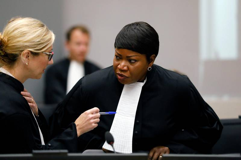 FILE PHOTO: Public Prosecutor Fatou Bensouda attends the trial of Congolese warlord Bosco Ntaganda at the ICC (International Criminal Court) in the Hague, the Netherlands August 28, 2018.  Bas Czerwinski/Pool via REUTERS/File Photo