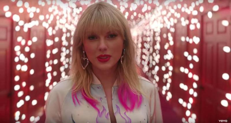 Taylor Swift - Lover (screen grab)https://www.youtube.com/watch?v=-BjZmE2gtdoCredit: Taylor Swift/Youtube