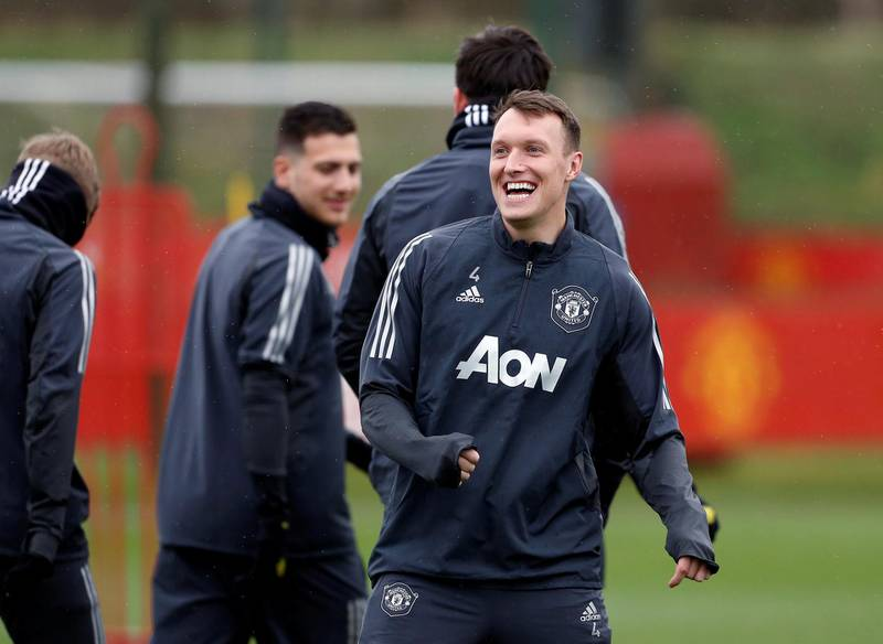 Soccer Football - Europa League - Manchester United Training - Aon Training Complex, Manchester, Britain - February 19, 2020   Manchester United's Phil Jones during training   Action Images via Reuters/Craig Brough