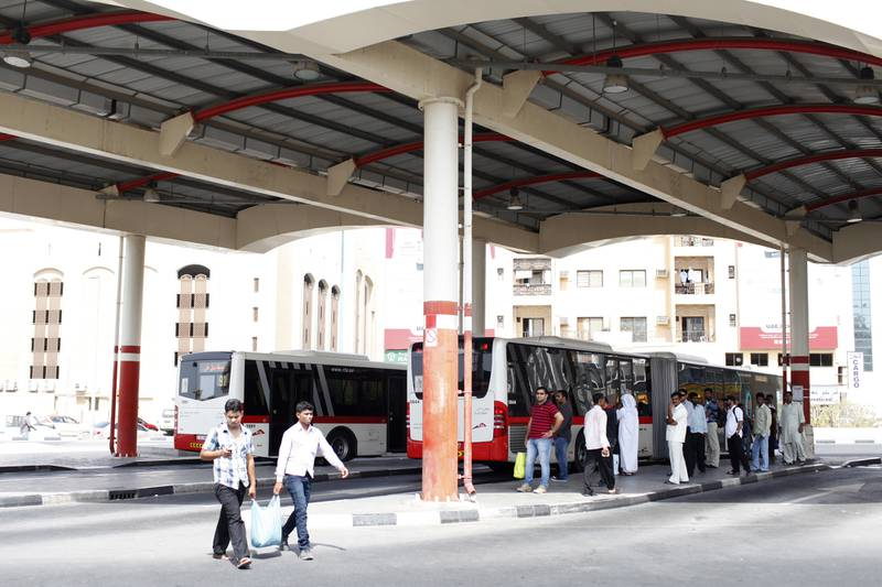Dubai, August 18, 2012 -- Passengers prepare to board buses during the weekend Eid holiday at Ghubaiba Bus Station in Dubai, August 18, 2012. Photo by: Sarah Dea/The National)