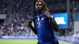Moise Kean twice on target as Italy make it 37 games unbeaten - in pictures