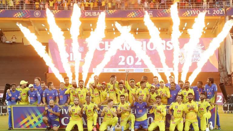 An image that illustrates this article IPL 2021: Dhoni a champion again as Chennai Super Kings take title