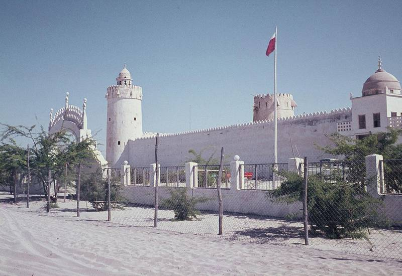 Historic photo of the Qasr Al Hosn  fort in Abu Dhabi, UAE from the Edward Wilson collection  credit: Col. Edward Wilson © TCA Abu Dhabi