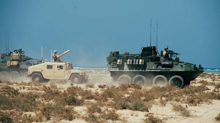 An image that illustrates this article US and Saudi Arabia troops in joint naval 'Indigo Defender-21' drills