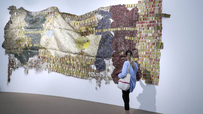 An image that illustrates this article Efie Gallery enters UAE art scene with new El Anatsui works - in pictures