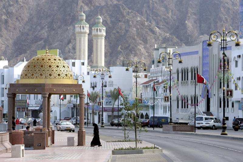 OMAN - NOVEMBER 17:  At The Eve Of The Sultanate Of Oman National Day 35Th Anniversary, The Capital, Muscat Is Preparing For The 3 Days Festivities - On November 17Th, 2005 - In Mascate (City), Oman -   (Photo by Gilles BASSIGNAC/Gamma-Rapho via Getty Images)