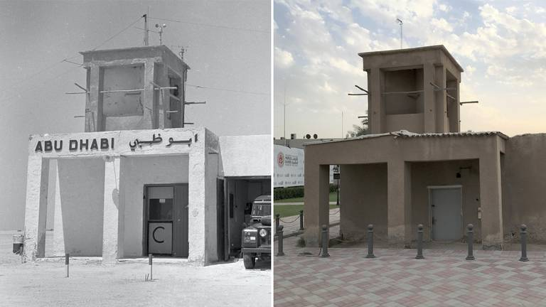 An image that illustrates this article UAE then and now: images of an Abu Dhabi airfield show a time long forgotten