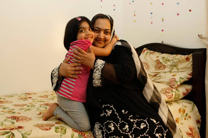 Sharjah, 1st May 2010.  Hajera Abdul Qudoos (6 years old) with her mother Tahmina Qudoos, Hajera had a successful kidney transplant in Abu Dhabi.  Held at their residence.  (Jeffrey E Biteng / The National)
