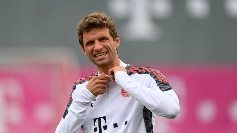An image that illustrates this article Lewandowski, Sane and Muller train with Bayern ahead of Dynamo clash