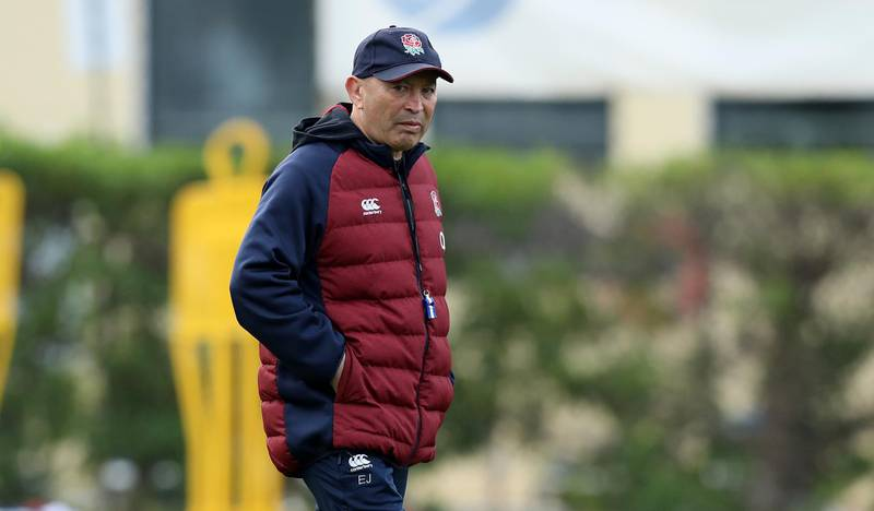 VILAMOURA, PORTUGAL - JANUARY 29:  Eddie Jones, the England head coach looks on during the England training session held on January 29, 2020 in Vilamoura, Portugal. (Photo by David Rogers/Getty Images)
