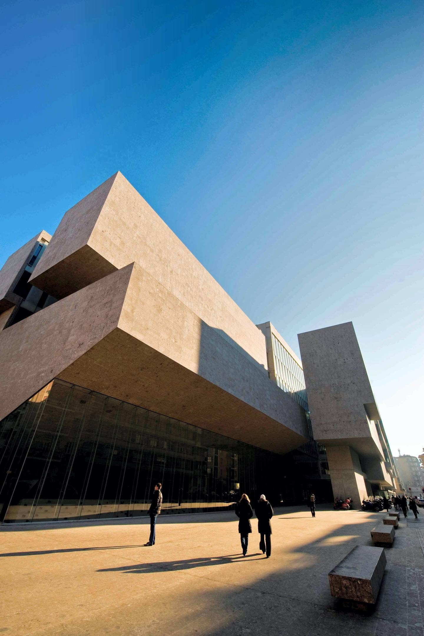 Bocconi University, Designed By Grafton Architects, Arch, Shelley Mcnamara, Yvonne Farrell, Milan, Italy. (Photo by Marka/Universal Images Group via Getty Images)