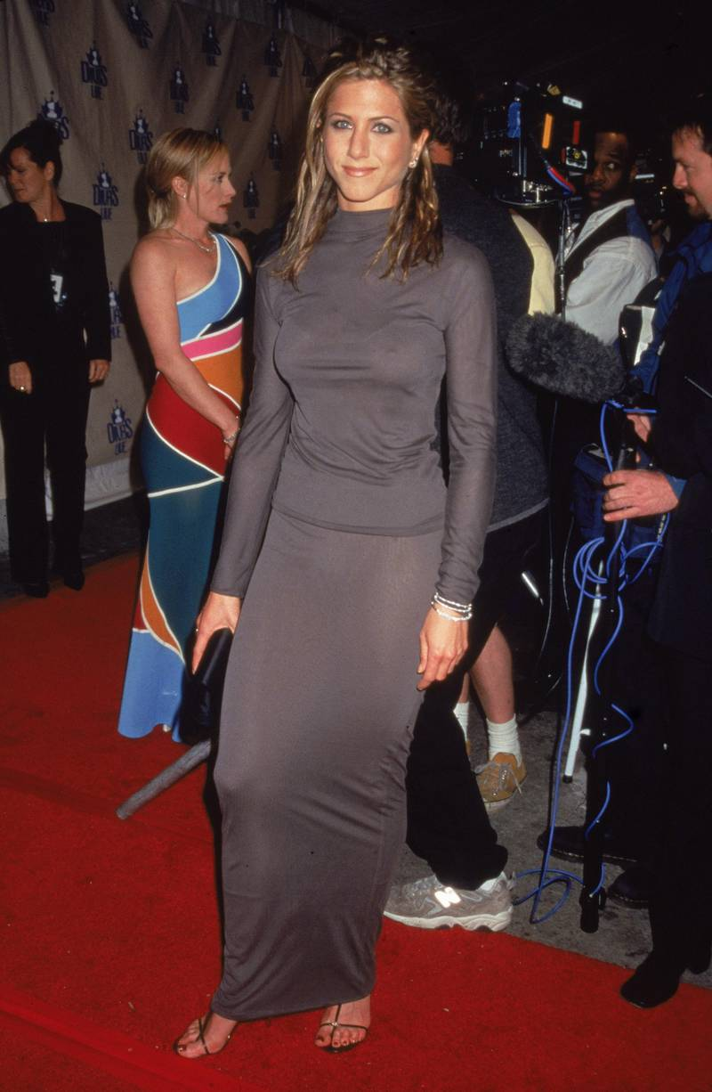 American actor Jennifer Aniston attends VH-1 Divas Live Concert in New York City, April 18, 1998. (Photo by Victor Malafronte/Getty Images)