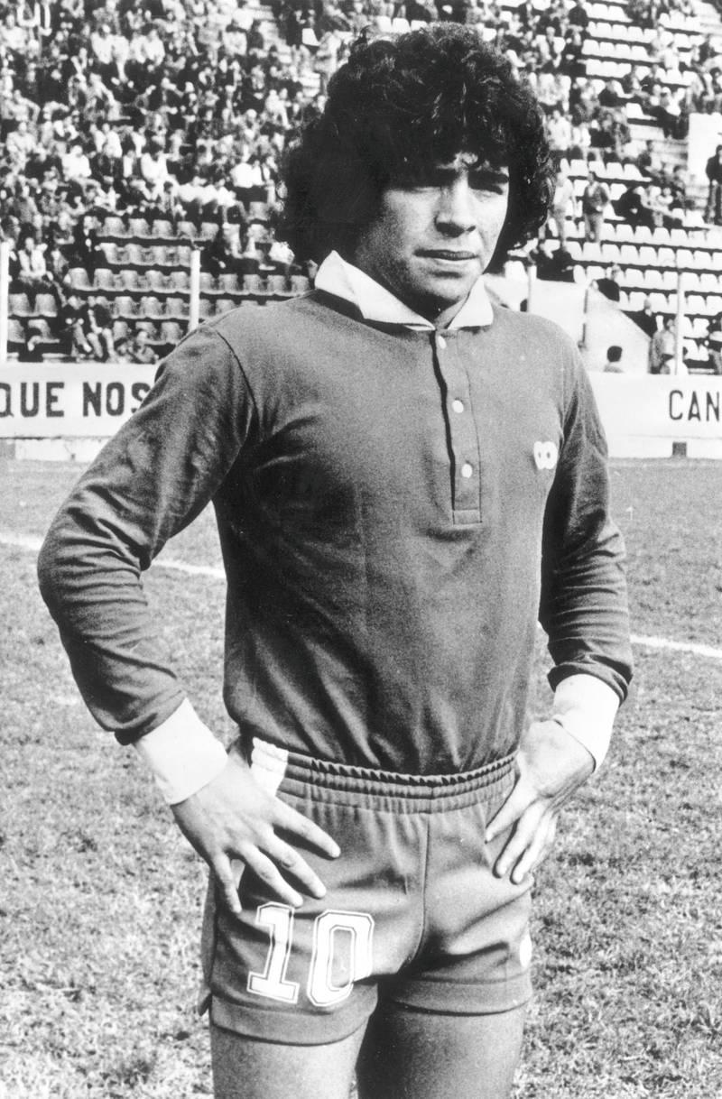 11th April 1978:  Argentinian footballer, Diego Maradona.  (Photo by Roberto Bunge/Keystone/Getty Images)