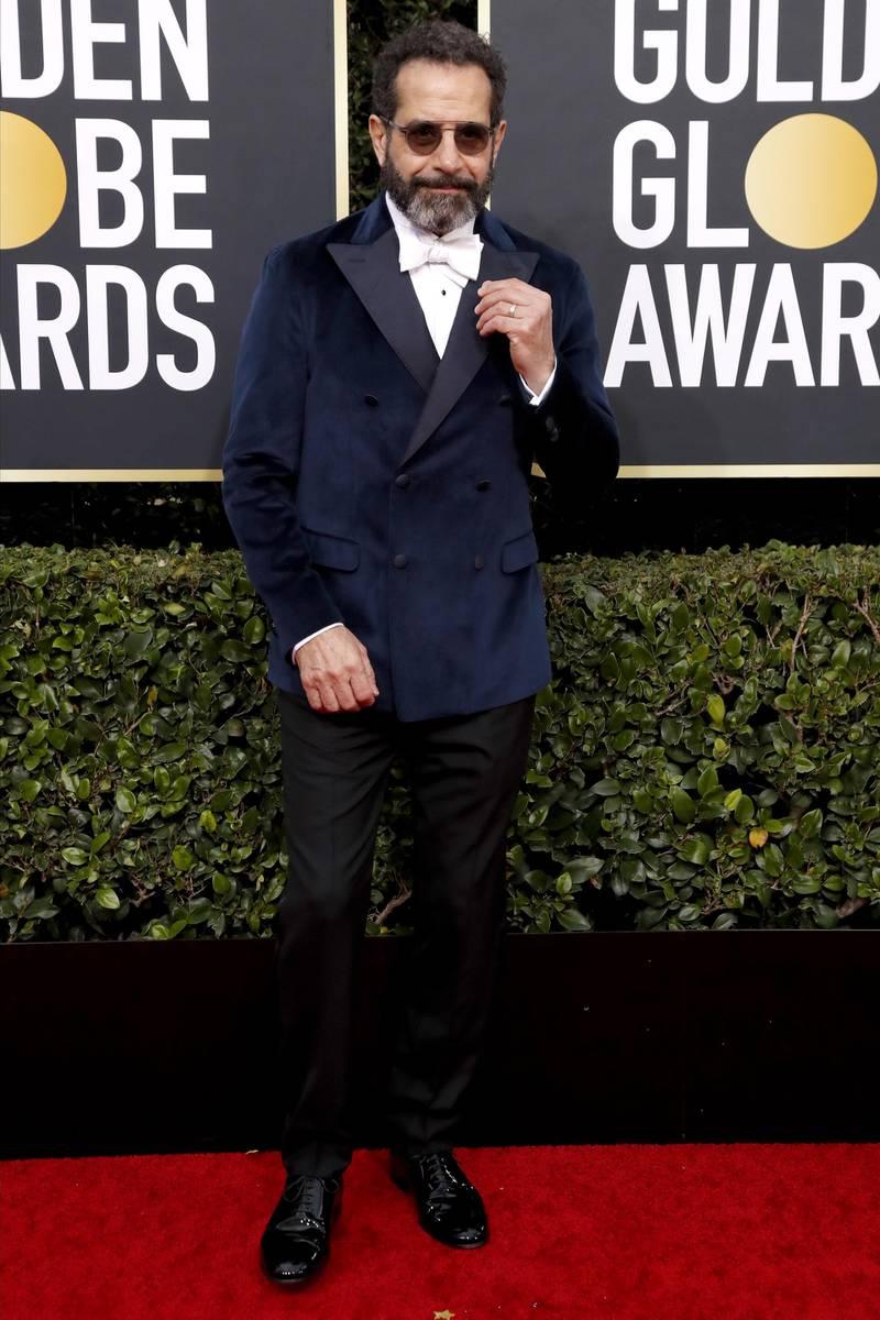 epa08105896 Tony Shalhoub arrives for the 77th annual Golden Globe Awards ceremony at the Beverly Hilton Hotel, in Beverly Hills, California, USA, 05 January 2020.  EPA-EFE/NINA PROMMER