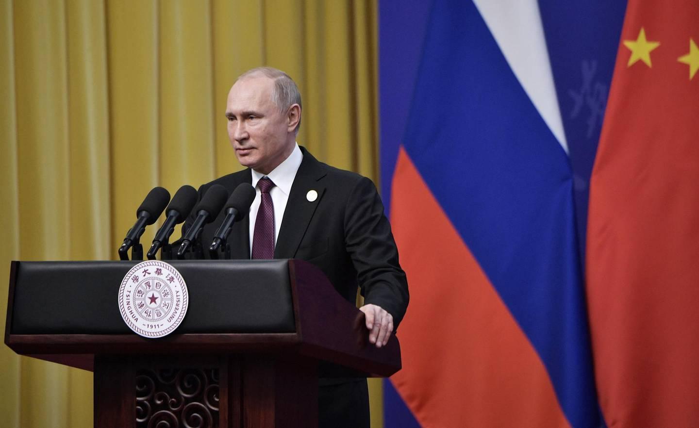 epa07529429 Russian President Vladimir Putin delivers a speech during a Tsinghua University ceremony at the Friendship palace in Beijing, China, 26 April 2019. Putin received the title of honorary doctor of Tsinghua University.  EPA/ALEXEY NIKOLSKY / SPUTNIK / KREMLIN POOL MANDATORY CREDIT