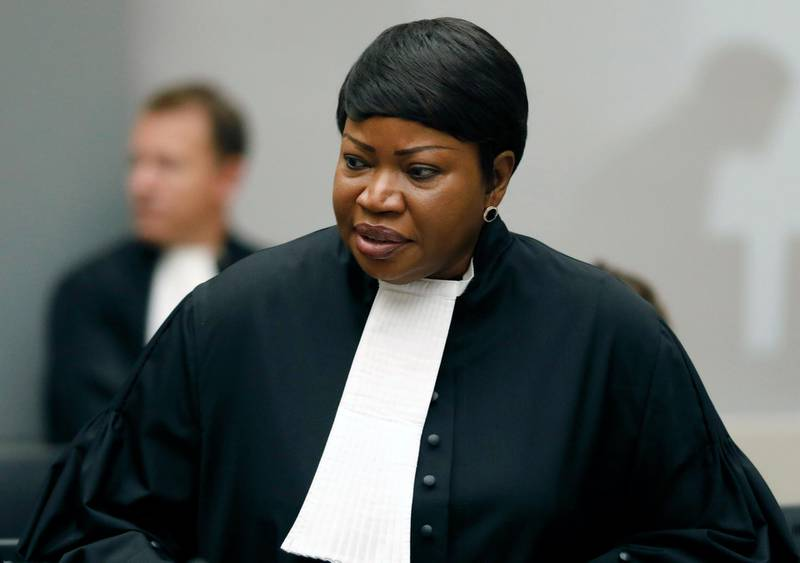 """FILE - In this Tuesday Aug. 28, 2018 file photo, Prosecutor Fatou Bensouda at the International Criminal Court (ICC) in The Hague, Netherlands.  The ICC says its jurisdiction extends to territories occupied by Israel in the 1967 Mideast war, appearing to clear the way for its chief prosecutor to open a war crimes probe into Israeli military actions.  Bensouda, said in 2019 that there was a """"reasonable basis"""" to open a war crimes probe into Israeli military actions in the Gaza Strip as well as Israeli settlement construction in the West Bank.  (Bas Czerwinski/Pool file via AP, File)"""