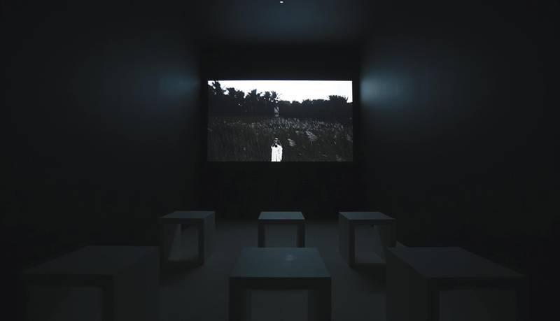 Mohammad Alfaraj The Sun, Again, 2017 Video projection  Variable dimensions Courtesy the artist, ATHR Gallery, Jeddah and Saudi Art Council Photo © Riyadh Art 2021