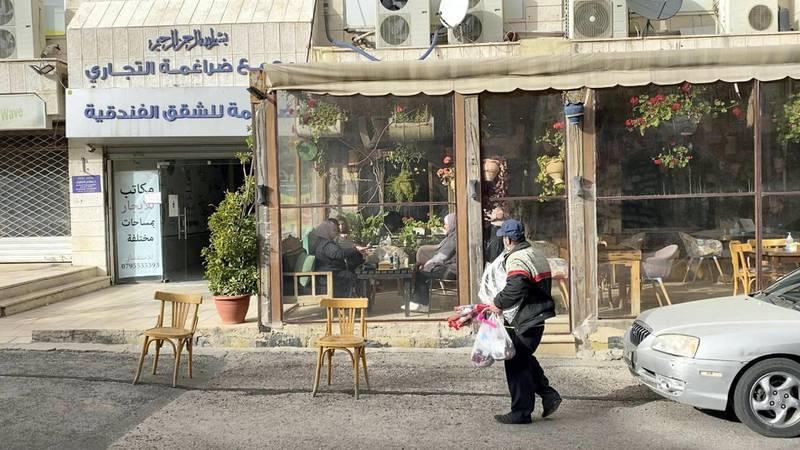 A local resturant in Jordan's Jabal AL Weibdeh neighbourhood. Amy McConaghy / The National