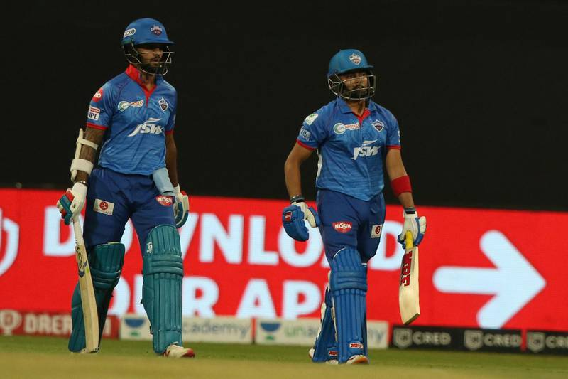 Shikhar Dhawan of Delhi Capitals  and Prithvi Shaw of Delhi Capitals arrive on the ground for the start of the  match 55 of season 13 of the Dream 11 Indian Premier League (IPL) between the Delhi Capitals and the Royal Challengers Bangalore at the Sheikh Zayed Stadium, Abu Dhabi  in the United Arab Emirates on the 2nd November 2020.  Photo by: Pankaj Nangia  / Sportzpics for BCCI