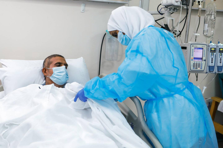 Abu Dhabi, United Arab Emirates, July 28, 2020.   First bone marrow transplant patient in the UAE at Sheikh Khalifa Medical City Hospital.Victor Besa  / The NationalSection: NAReporter:  Shireena Al Nowais