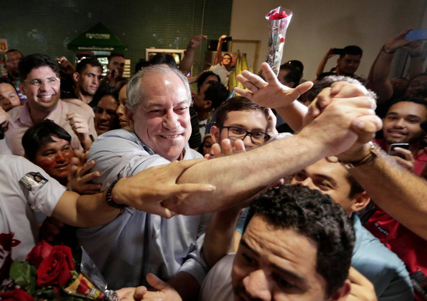 Presidential candidate Ciro Gomes arrives at the Eduardo Gomes International Airport in Manaus, Brazil, September 14, 2018.  REUTERS/Bruno Kelly