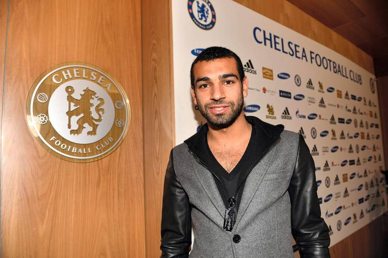 Chelsea's new signing Mohamed Salah at the Cobham Training Ground on 31st January 2014 in Cobham, England.  (Photo by Darren Walsh/Chelsea FC via Getty Images)