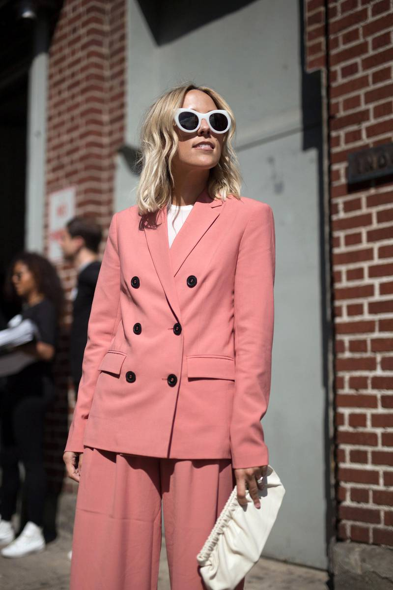 NEW YORK, NY - SEPTEMBER 07:  Jacey Duprie is seen attending Creatures of Comfort during New York Fashion Week wearing Tibi on September 7, 2017 in New York City.  (Photo by Matthew Sperzel/Getty Images)