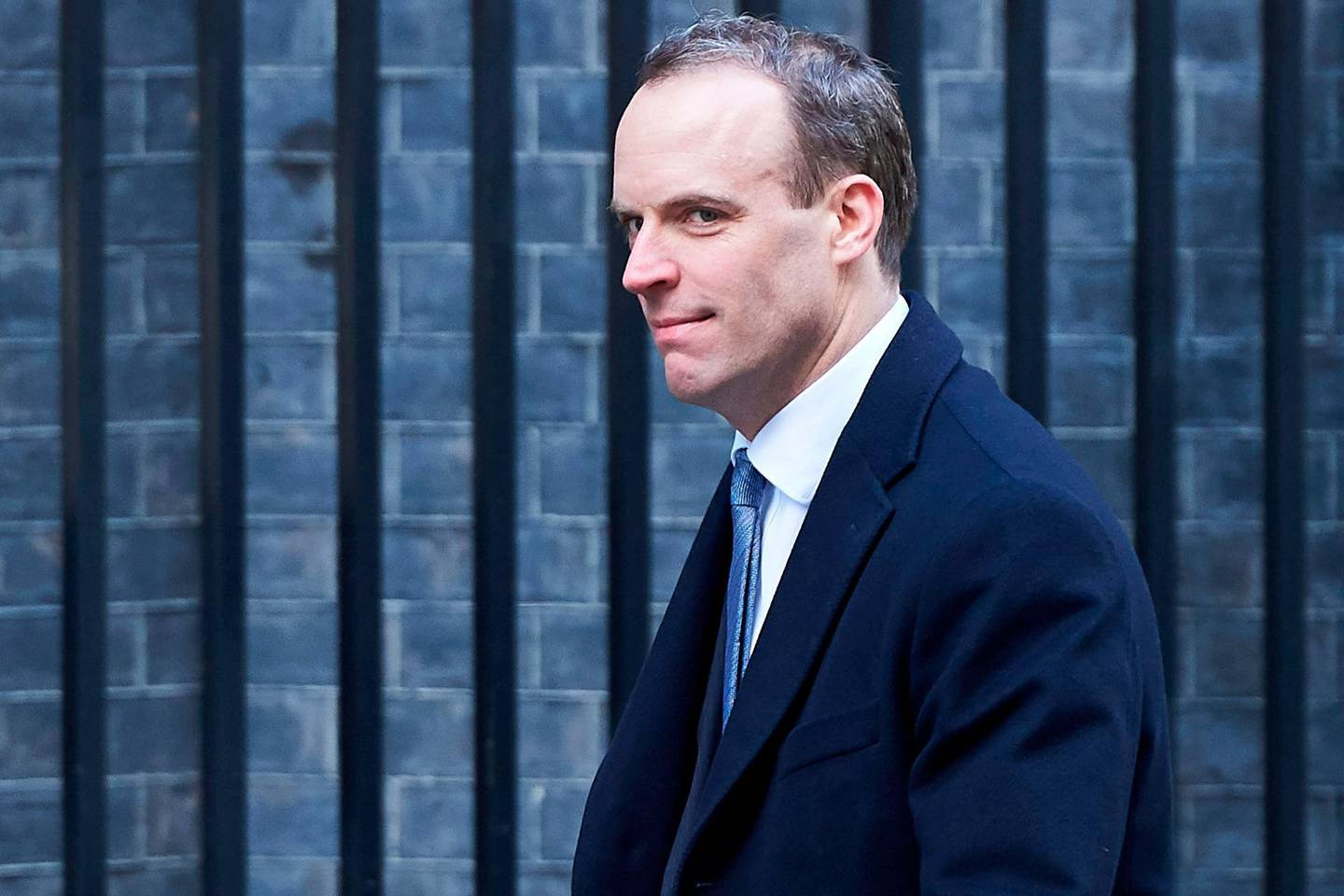 (FILES) In this file photo taken on February 06, 2018 Dominic Raab, then Minister of State for Housing and Planning, leaves 10 Downing street after the weekly cabinet meeting on February 6, 2018 in London. Dominic Raab was named Britain's new Brexit minister on July 9, 2018 after the resignation of David Davis. / AFP / NIKLAS HALLE'N