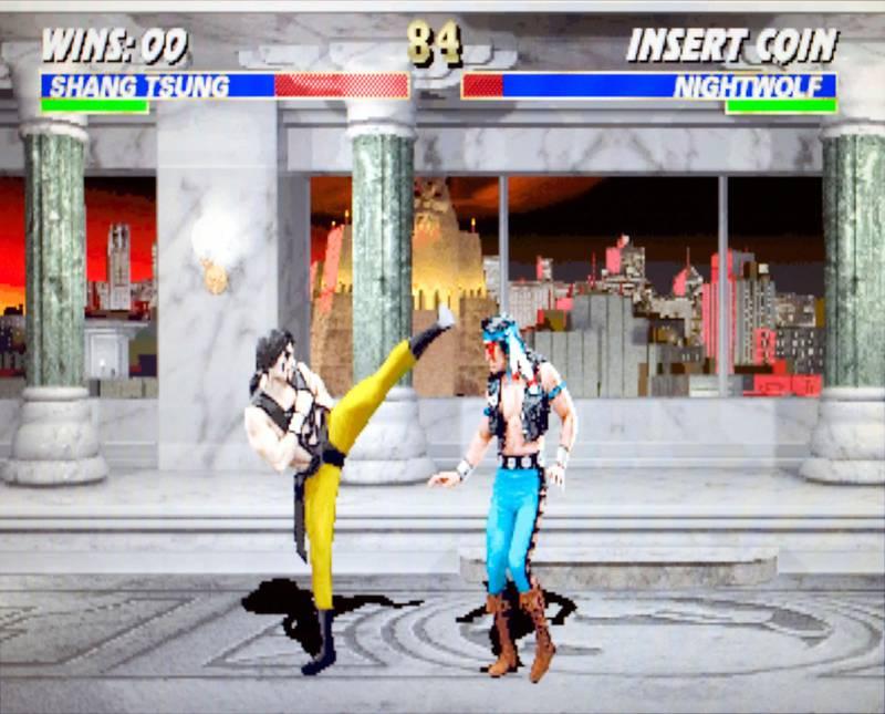 AT3FX8 Mortal Kombat 3 Midway 1995 vintage arcade videogame screenshot - Editorial Use Only