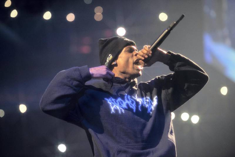 WASHINGTON, DC - NOVEMBER 29: Rapper Travis Scott performs his Astroworld - Wish You Were Here concert at the Capital One Arena in Washington, D.C. on November 20, 2018. (Photo by Calla Kessler/The Washington Post via Getty Images)