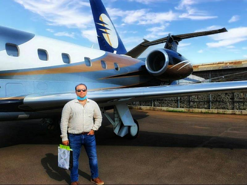 Mudassir Ali is among UAE residents who have travelled on private jets to Dubai. Groups of residents have pooled in to afford charter services upwards of Dh135,000. Courtesy: Mudassir Ali