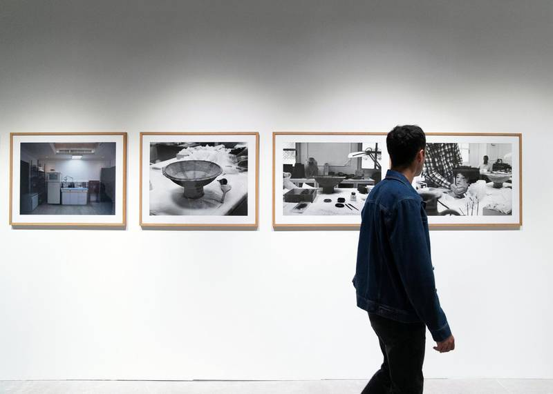 ABU DHABI, UNITED ARAB EMIRATES. 22 NOVEMBER 2019. Lamya Gargash's photos at Gateway: Fragments, Yesterday and Today exhibition at The 11th edition of Abu Dhabi Art. Curated by Paolo Colombo.(Photo: Reem Mohammed/The National)Reporter:Section: