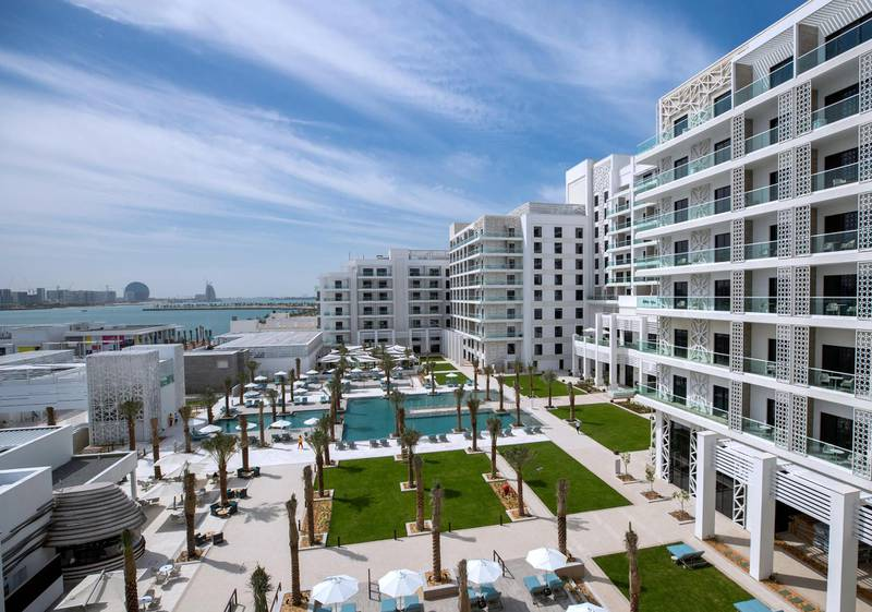 Abu Dhabi, United Arab Emirates, February 18, 2021. First-look pictures of the new Hilton Abu Dhabi Yas Island.     Victor Besa/The National Section:  LFReporter:  Hayley Skirka