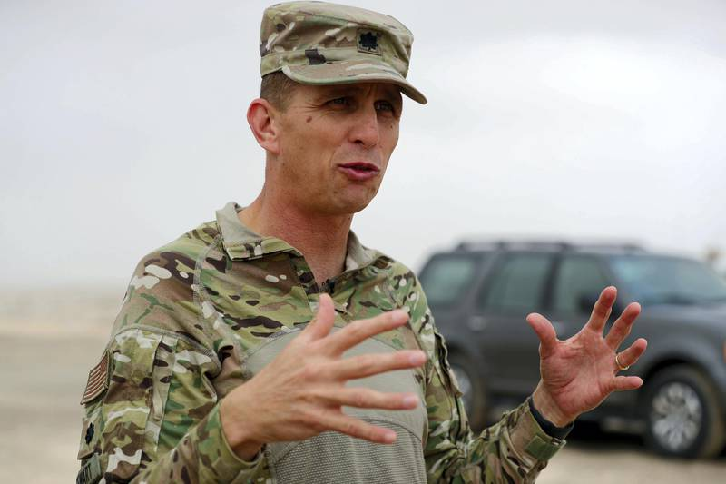 THESE PICTURES NEED TO BE OKAYED BY THE UAE ARMY! SPEAK TO DANIEL SANDERSON  Abu Dhabi, United Arab Emirates - Reporter: Daniel Sanderson: Lieutenant colonel Jon Stewart. A joint military training exercise between the UAE and US recon forces using live ammunition. Wednesday, December 18th, 2019. Abu Dhabi. Chris Whiteoak / The National