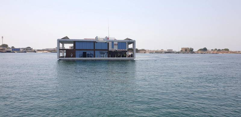 Seagate Shipyard unveiled the first house in its Neptune project, which will include a floating luxury hotel and 12 residential floating houses in Dubai.Courtesy: Seagate Shipyard