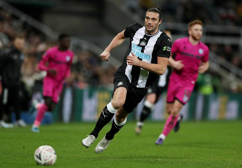 Soccer Football - FA Cup Third Round Replay - Newcastle United v Rochdale - St James' Park, Newcastle, Britain - January 14, 2020  Newcastle United's Andy Carroll          Action Images via Reuters/Lee Smith