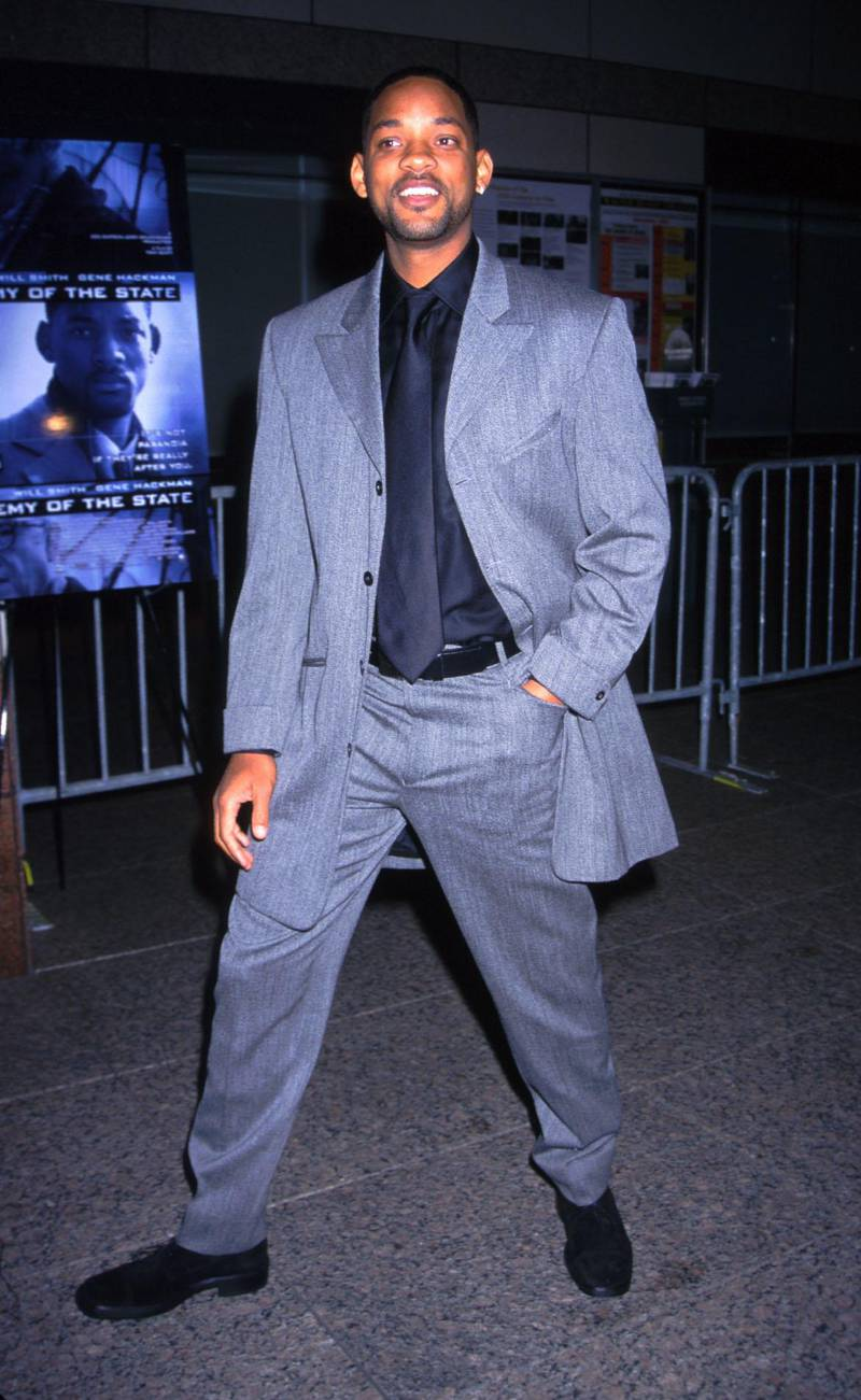 """Actor/rapper Will Smith arrives at the """"Enemy of the State"""" film premiere at the Walter Reade Theatre in New York City November 18, 1999. (Photo by Diane Freed)"""