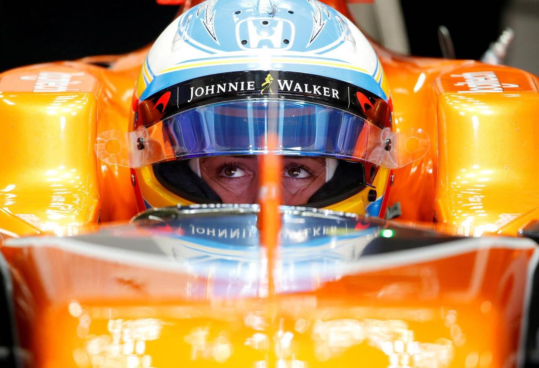 FILE PHOTO: Formula One F1 - Japanese Grand Prix 2017 - Suzuka Circuit, Japan - October 7, 2017. McLaren's Fernando Alonso of Spain during a practice. REUTERS/Toru Hanai/File Photo