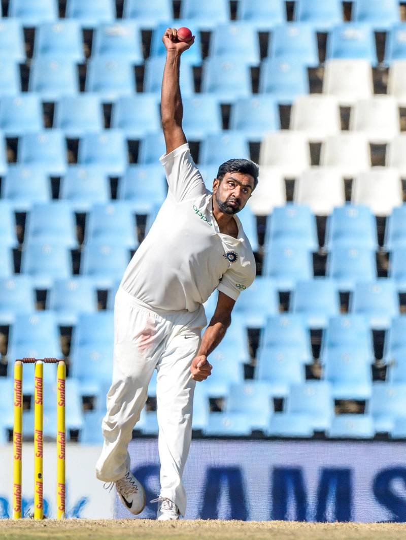 PRETORIA, SOUTH AFRICA - JANUARY 16: Ravichandra Ashwin of India during day 4 of the 2nd Sunfoil Test match between South Africa and India at SuperSport Park on January 16, 2018 in Pretoria, South Africa. (Photo by Sydney Seshibedi/Gallo Images/Getty Images)